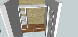 mud room sketch upfloor plan boot bench plans with sketchup youtube