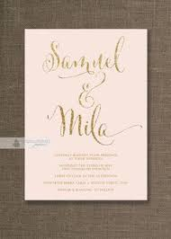 pink and gold wedding invitations blush pink gold wedding invitation gold glitter modern script