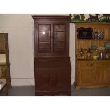 furniture traditional varnished white oak secretary desk which