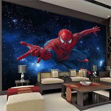 spiderman bedroom decor custom super hero wall mural spider man photo wallpaper silk