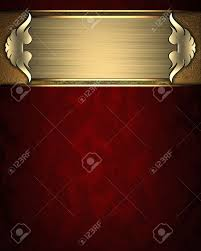 Gold Nameplate Design Template Red Texture With Gold Nameplate And Gold Trim