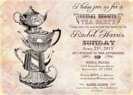 tea party bridal shower invitations vintage tea party bridal shower invitation vintage diy