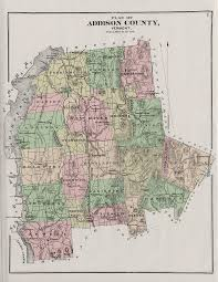 Vermont County Map Early Vermont Maps
