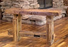 Wood Sofa Table Design Rustic Wood Sofa Table Rustic Sofa Table For Classic Room