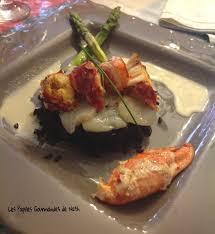 homard cuisine homard au beurre blanc sur sa rosace de st jacques et risotto à