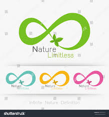 logo infinity leaf infinite nature definition stock vector
