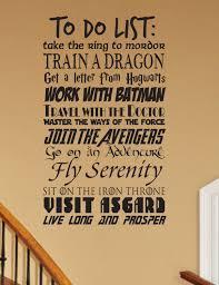 geek do list wall decal customizable fantasy geekery