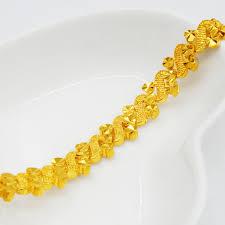 womens bracelet yellow gold filled 3 design bracelet