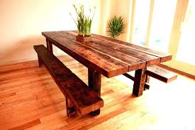 farm tables with benches homemade kitchen table plans stained and distressed farmhouse