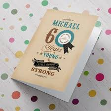 personalised 60th birthday cards from 1 49 gettingpersonal co uk