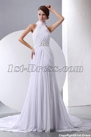 halter neck wedding dresses white halter high neckline chiffon wedding gown 1st dress