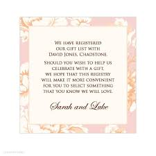 online gift registry gift card for bridal shower wording bridal shower invitations