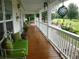 chic decks in front porch design for mobile homes