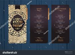 design menu restaurants menu design template stock vector