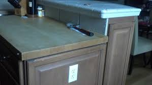 kitchen island counter height cutting high top bar counter to match adjacent attached