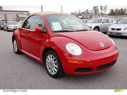 volkswagen new beetle red 2006 volkswagen new beetle 2 5 convertible in salsa red 320783