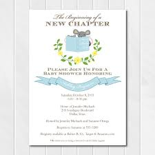 bring a book baby shower library themed baby shower invitations blue stock the library