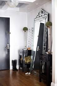 fabulous victorian dressing room with sophisticated metal mirror