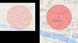 draw a radius on a map geometry r draw circle with radius r metres in lat lon epsg