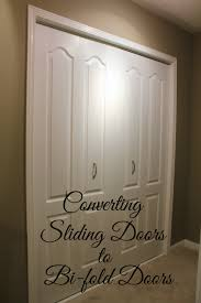 Folding Doors For Closets Turtles And Tails Converting Sliding Doors To Bi Fold Doors