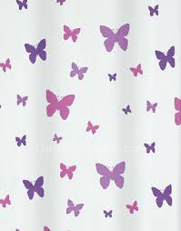 Purple Butterfly Curtains Fabric Shower Curtain And Butterfly Purple Color