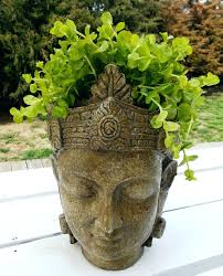 planters diy concrete head planters lady planter doll tall lion