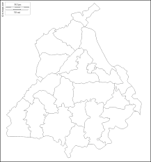Outline Map Of India by Punjab Free Map Free Blank Map Free Outline Map Free Base Map