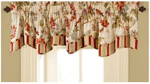 floral pattern of straight valance on white window treatment also