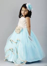 cow u0027s girls party wear white and sky blue frock