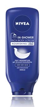 in shower rich lotion skin conditioner nivea