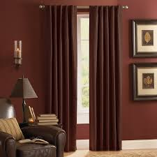 Burgundy Curtain Panels Shop Style Selections Roberta 84 In Mocha Polyester Rod Pocket