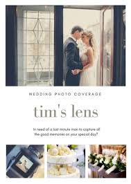 white wedding photography flyer templates by canva