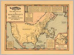 United State Of America Map by This Map Presents A Bostonian U0027s Idea Of The United States Of