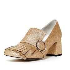 jeffrey campbell bernice u0027 kiltie slip on gold glitter chunky block