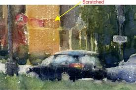 a super quick and easy way to paint rain in watercolor