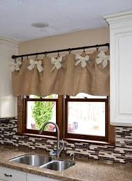 Fabric For Kitchen Curtains Improbable Photos Kitchen Endearing Fabric Wall Ideas