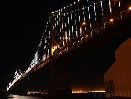 Bay Bridge Light Show The Bay Lights Unveiled World U0027s Largest Light Sculpture