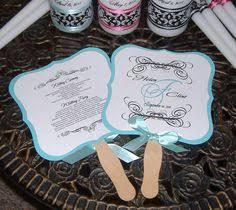 Wedding Program Paper Kits Cathy U0027s Concepts Pr15 Diy Designer Fan Program Paper Kit