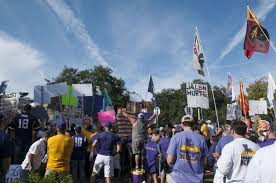Lsu Garden Flag College Gameday Brings Out Passionate Fanfare Before Lsu Hosts