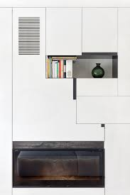 Contemporary White Bookcase by Divine Modern Interior Applying White With Glossily Rustic Wooden
