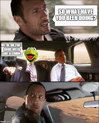 The Rock Driving Meme - the rock driving kermit and barack obama latest memes imgflip