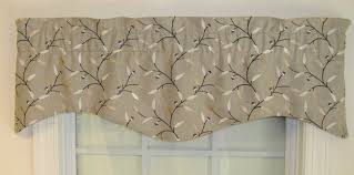 Curtain Box Valance Shaped Valances Solid Patterned Cornice Box Pleat