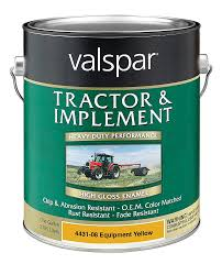 amazon com valspar 4431 08 equipment yellow tractor and implement