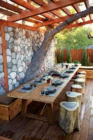 rustic garden furniture for charm and a natural look my desired home