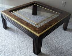 Wood Glass Coffee Table Large Square Glass Coffee Table Foter