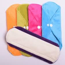 reusable cloth sanitary pads minky u0026 bamboo or bamboo charcoal