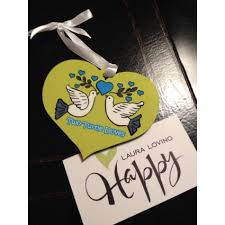 two turtle doves ornament loving happy