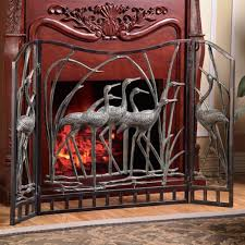 amazon com crane flock aluminum fireplace screen home u0026 kitchen