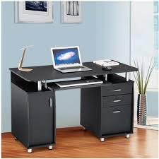 bureau informatique noir bureau informatique avec rangement noir neuf top prix pas cher à