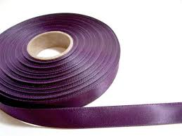 purple satin ribbon this listing is for 1 yard of eggplant faced satin ribbon
